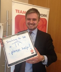 Trainee Teaching Assistant John Woodcock MP